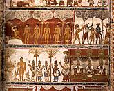 Jain paintings (18th Century). Gena Swamy Temple. Kanchipuram. India
