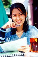 Asian student.