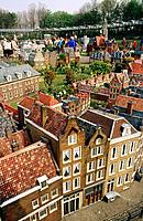Madurodam, miniature city, with many visitors, The Hague, the Netherlands