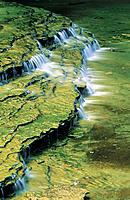 Waterfall. Pictured Rocks National Lakeshore. Lake Superior. Michigan. USA