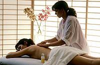 Massage therapy at health spa. Boston. Massachusetts. USA