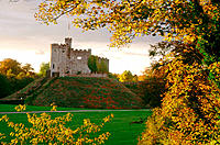 Norman keep on grounds of Cardiff Castle. Wales. UK