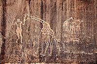 Rock carving. Djanet. Algeria