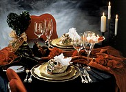 Valentine´s Day Table Set for Two