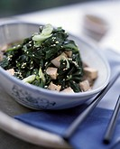 Spinach with tofu and sesame