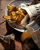 Fish and Chips Wrapped in the London Times