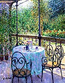 Casino Cafe, Arco, Trentino, Italy 2002 Charles Neal (b.1951/British) Oil on canvas