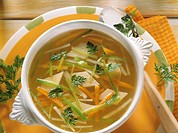 Asian Soup with Tofu Squares
