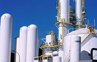 Industrial gas tanks. Gipuzkoa. Euskadi. Spain