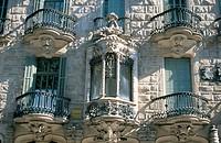 Facade of the Calvet House (Gaudí, 1898-1904). Barcelona. Spain