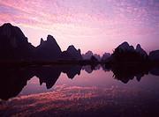 Guilin, Li River at Sunset, China