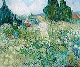 Marguerite Gachet in the Garden at Auvers-sur- Oise 1890 Vincent van Gogh (1853-1890 Dutch) Oil on canvas Musee d´ Orsay, Paris, France