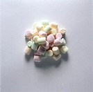A heap of different coloured marshmallows