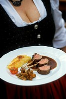 Lamb chop on rosemary jus with potato gratin