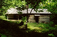 Hiking club cabin. Greenbrier. Great Smoky Mountains National Park. Tennessee. USA