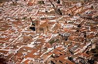 Aerial view of Zafra in Badajoz province. Extremadura. Spain