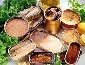 tinned goods, fishes