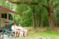 Camping. Fontainebleau State Park. St. Tammany Parish. Louisiana. USA