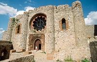 Church of Templar castle of Calatrava la Nueva. Ciudad Real province. Spain