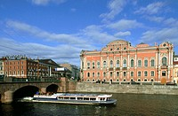 The Beloselsky-Belozersky Palace and Fontanka River. St Petersburg, Russia
