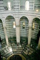 Baptistery, interior detail. Pisa. Italy