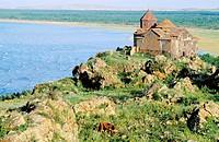 Church beside Lake Sevan. Armenia