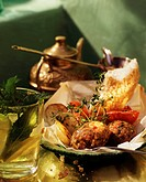 Tray-baked Turkish koftas with bread and potato wedges (1)