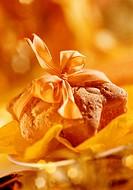 Almond bun with bow