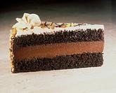 A Slice of Peanut Chocolate Cake