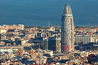 The Agbar Tower under construction. Barcelona. Spain, 2004