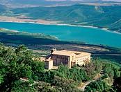 Monastery of San Salvador de Leyre. Sierra de Leyre. Navarre. Spain