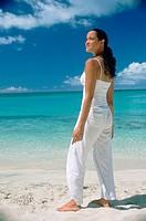 FV7076, Puzant Apkarian, Woman Standing on Beach