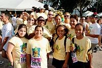 Miami Corporate Run event. Biscayne Boulevard, Bayfront Park, Miami. Florida, USA
