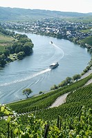 Moselle River near Kröv. Rhineland-Pallatinate. Germany