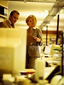 Office, business people, document