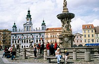 Premysla Otakara II Square. Ceske Budejovice. Czech Republic.