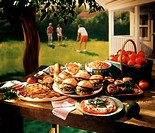 Foods from a Backyard Barbecue