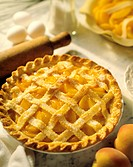 Apricot Pie with a Lattice Top