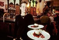 Waitress at Shophie´s bar. Stockholm. Sweden