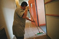 PSYCHIATRY<BR>Photo essay from hospital.<BR>Paul Guiraud Hospital, in the French region of Ile-de-France. Department of Psychiatry. Maintenance worker...