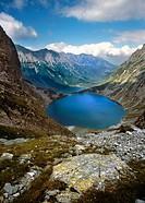 Black Pond (Czarny Staw) and Eye of the Sea (Morskie Oko). Tatra National Park. Poland