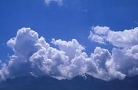 cloudy sky mountains, cilento cervati mount, italy