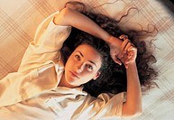 girl on the bed