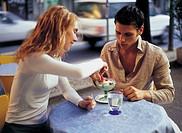 couple, ice cream parlour