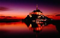 Benedictine abbey at Mont-Saint-Michel. Manche. Normandy. France.
