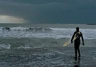 italy, lazio, anzio, surfer