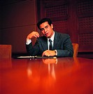Arab businessman in conference room