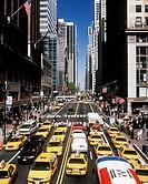 Street scene. Forty second street. Manhattan. New York. USA.