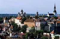 Toompea. From St. Olaf Church. Old town. Tallinn. Estonia.