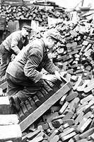 berlino est, operai caricano il carbone,1970